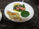Salmon Confit with Sorrel Sauce