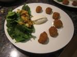 Carrot Falafel, Salad and Tahini Dressing
