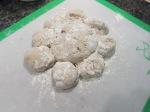 the shaped dough